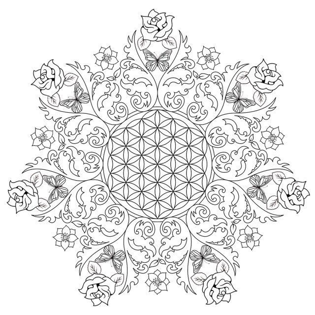 Flower Adult Coloring Pages Online Coloring Flower Coloring Pages For Adults Adult Coloring
