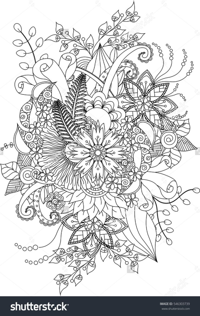 Flower Adult Coloring Pages Printable Flower Adult Coloring Page Coloring Pinterest Free