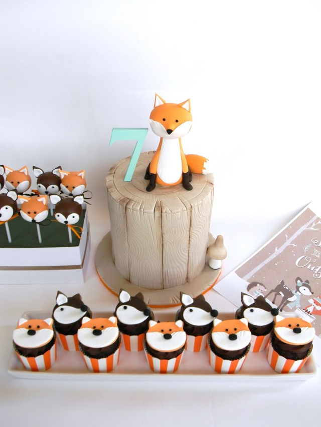 Fox Birthday Cake 10 Woodland Fox Birthday Cakes Photo Woodland Fox Ba Shower Cake