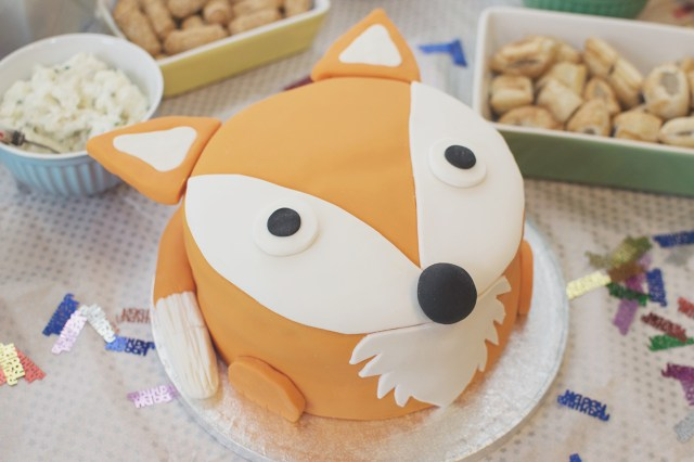 Fox Birthday Cake Baking A 1st Birthday Fox Cake With The Joseph Joseph Nest 9