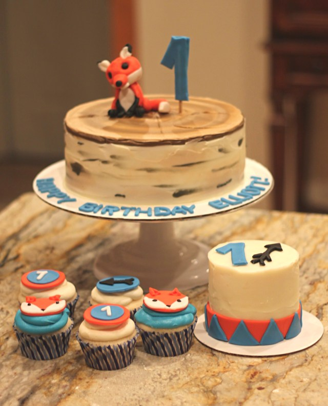 Fox Birthday Cake Foxwoodland Birthday Sweet Smorgasbord