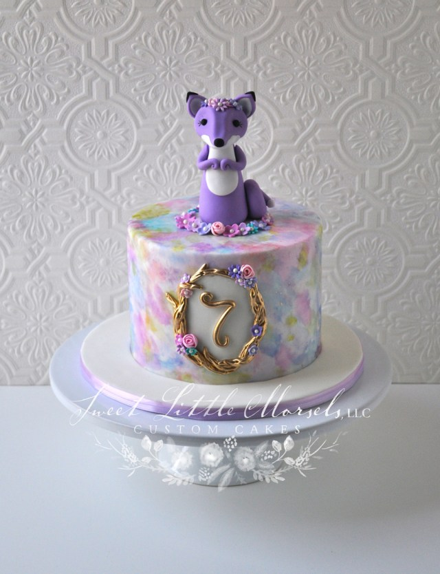 Fox Birthday Cake Sweet Little Fox Birthday Cake Cakecentral