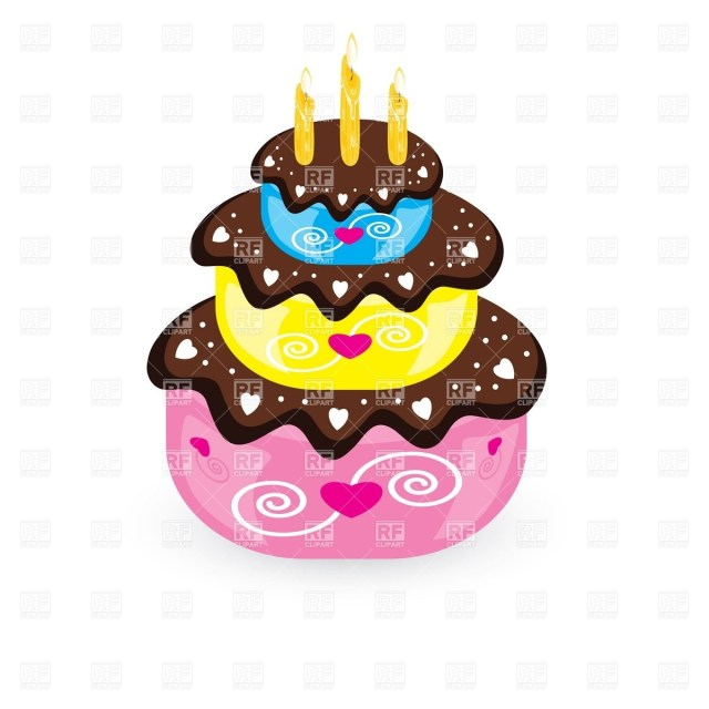 Free Birthday Cake Birthday Cake And Candle Vector Image Vector Artwork Of Food And