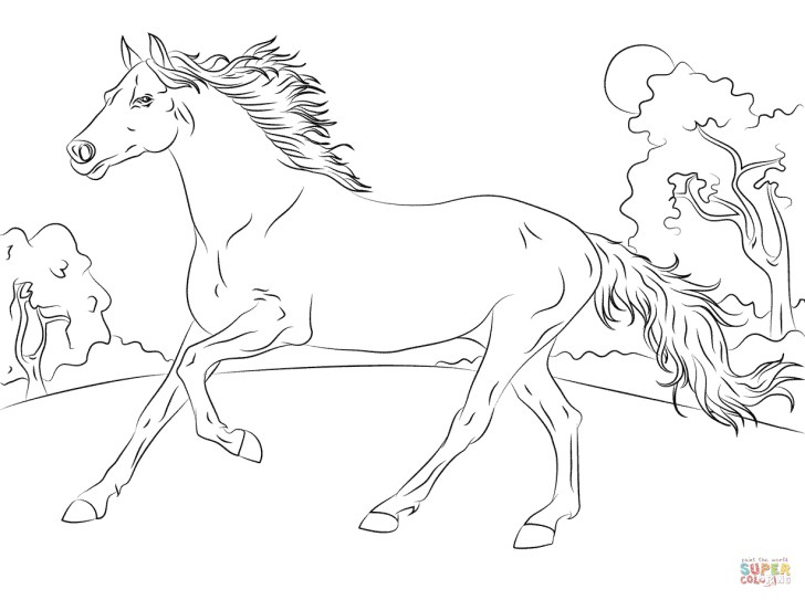 Awesome Picture of Free Horse Coloring Pages