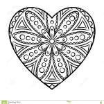 Free Mandala Coloring Pages Simple Heart Mandala Coloring Pages Free