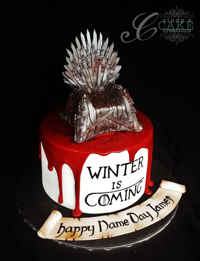Game Of Thrones Birthday Cake Game Of Thrones Iron Throne Cake Cindy Smith Flickr