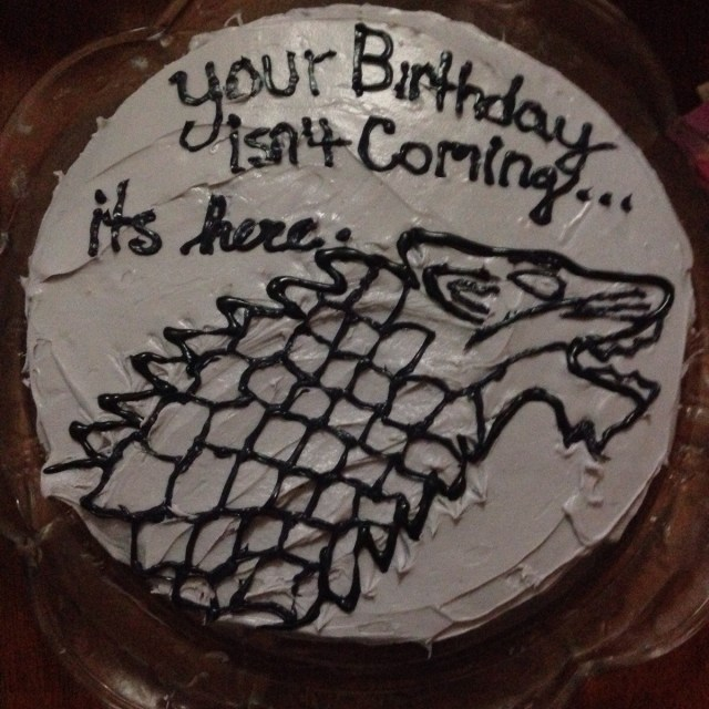 Game Of Thrones Birthday Cake Made My Boyfriend A Game Of Thrones Themed Birthday Cake Food