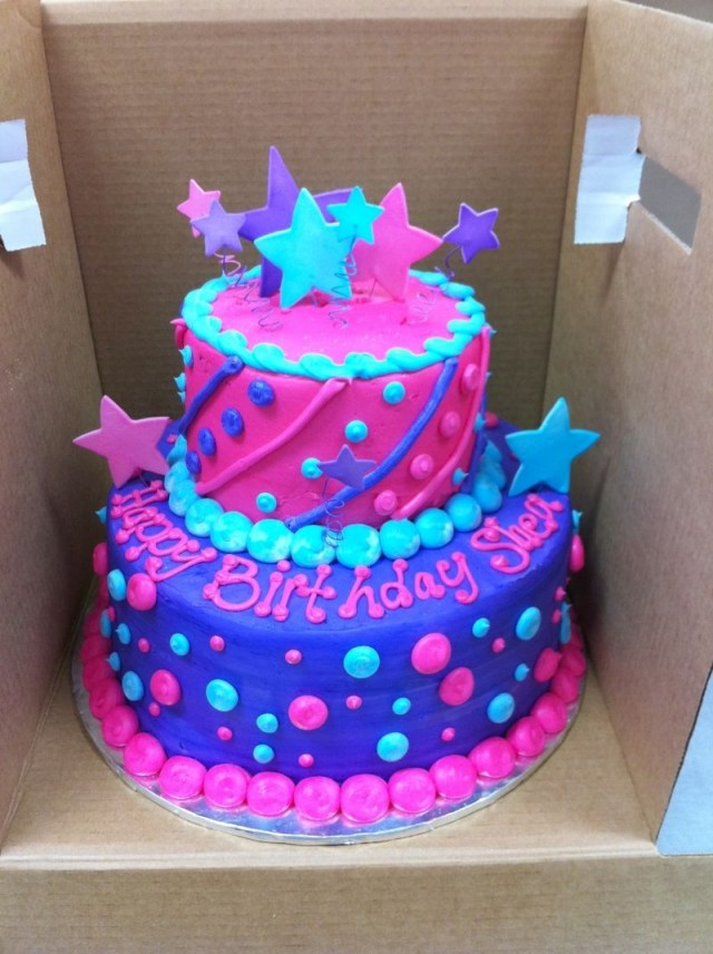 Girls Birthday Cake Perfect Tiered Cake For My Little Princess Birthday Hahaha The