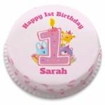 Girls Birthday Cake Personalised Girls 1st Birthday Cake From Just 1499 Bakerdays
