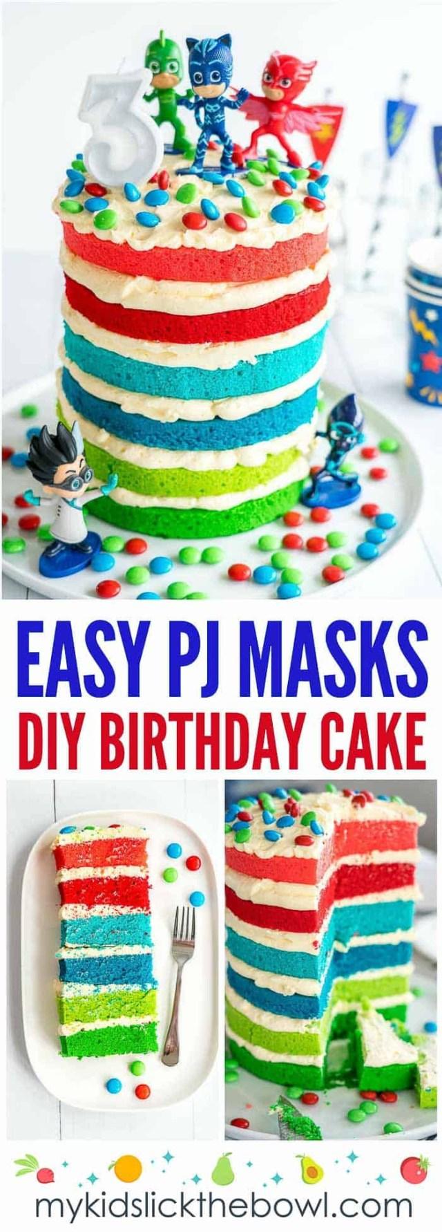Girls Birthday Cake Pj Masks Cake Easy Diy Birthday Cake For Kids
