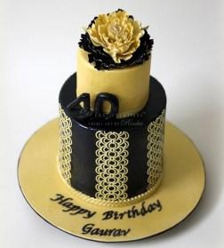 Gold Birthday Cake Black Gold 40th Birthday Cake D Cake Creations