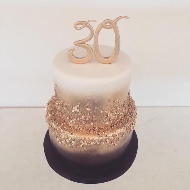 Gold Birthday Cake Black Gold And White 30th Birthday Cake Happy Birthday Sabreen