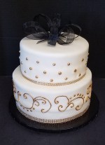 Gold Birthday Cake Black White And Gold Birthday Cake