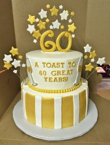 Gold Birthday Cake Cakes Mindy Gold And White 60th Birthday Cake 8 10