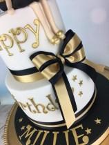 Gold Birthday Cake Gold And Black Birthday Cake Mels Amazing Cakes
