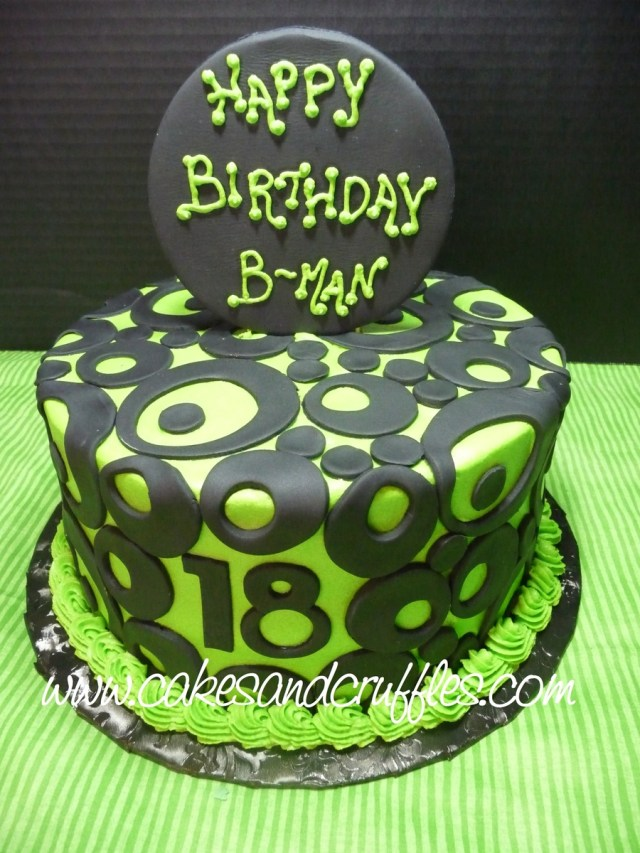 Green Birthday Cake 18th Birthday Lime Green Black Cakecentral