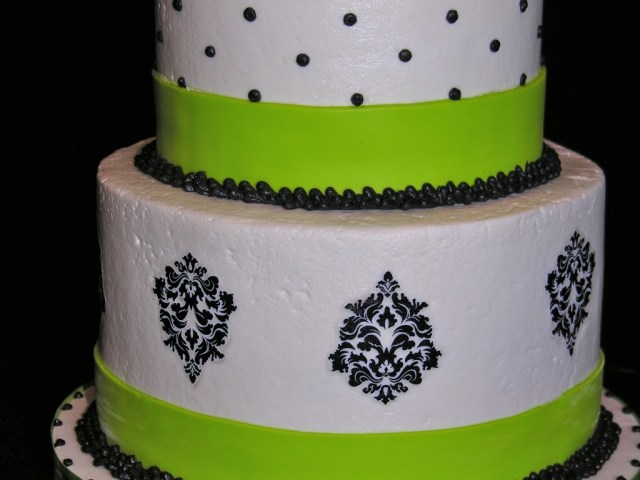 Green Birthday Cake Black White And Lime Green 40th Birthday Cake Cakecentral