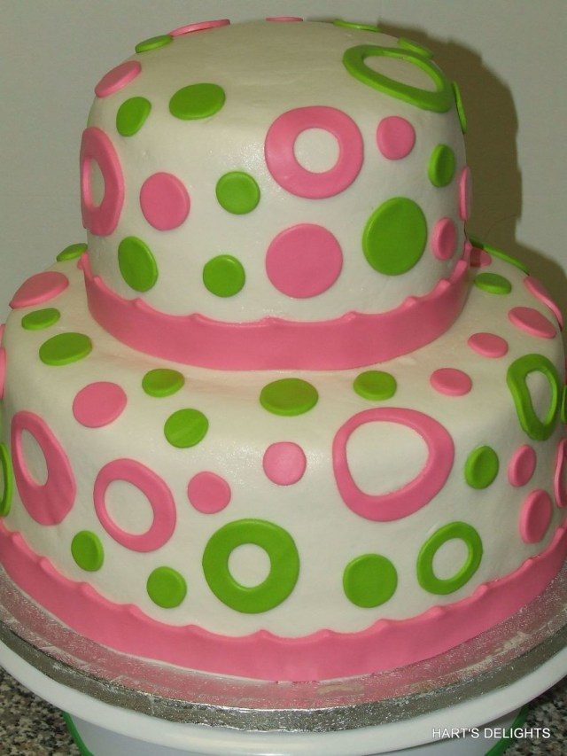 Green Birthday Cake Hot Pink And Lime Green Birthday Cake Cakecentral