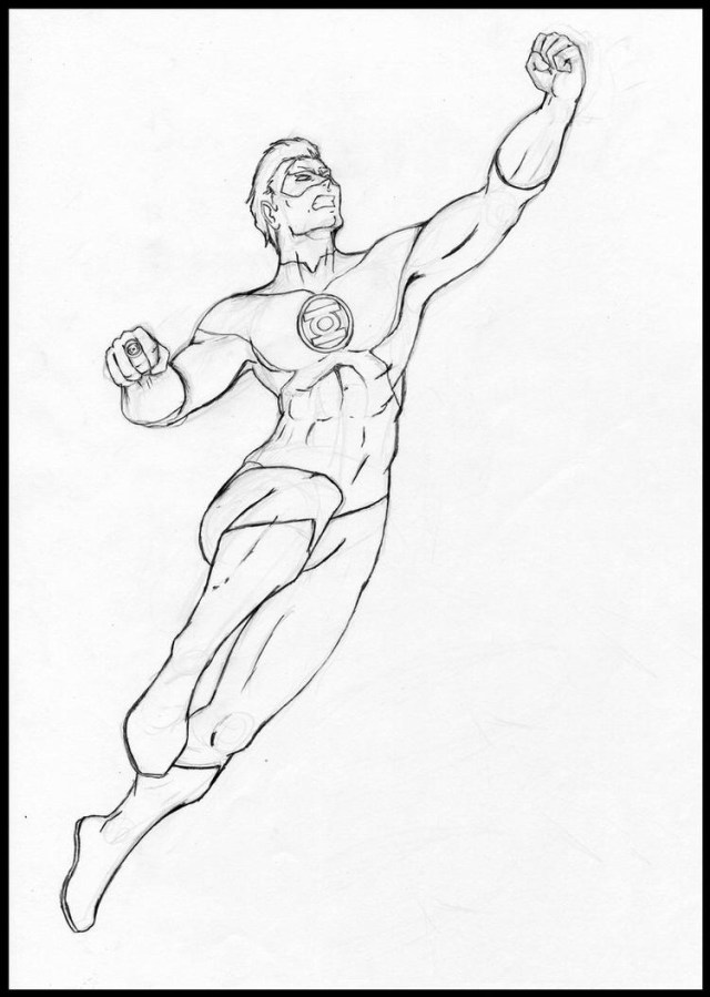 Green Lantern Coloring Pages Dc Comics Green Lantern Coloring Pages Printable Illustration