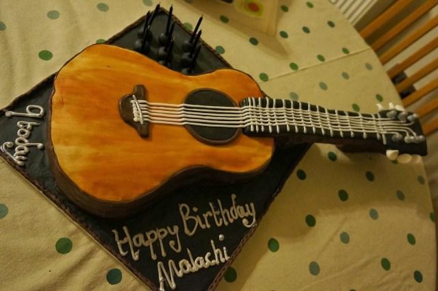 Guitar Birthday Cake Cakethe Acoustic Guitar Birthday Cake Eatbakecake