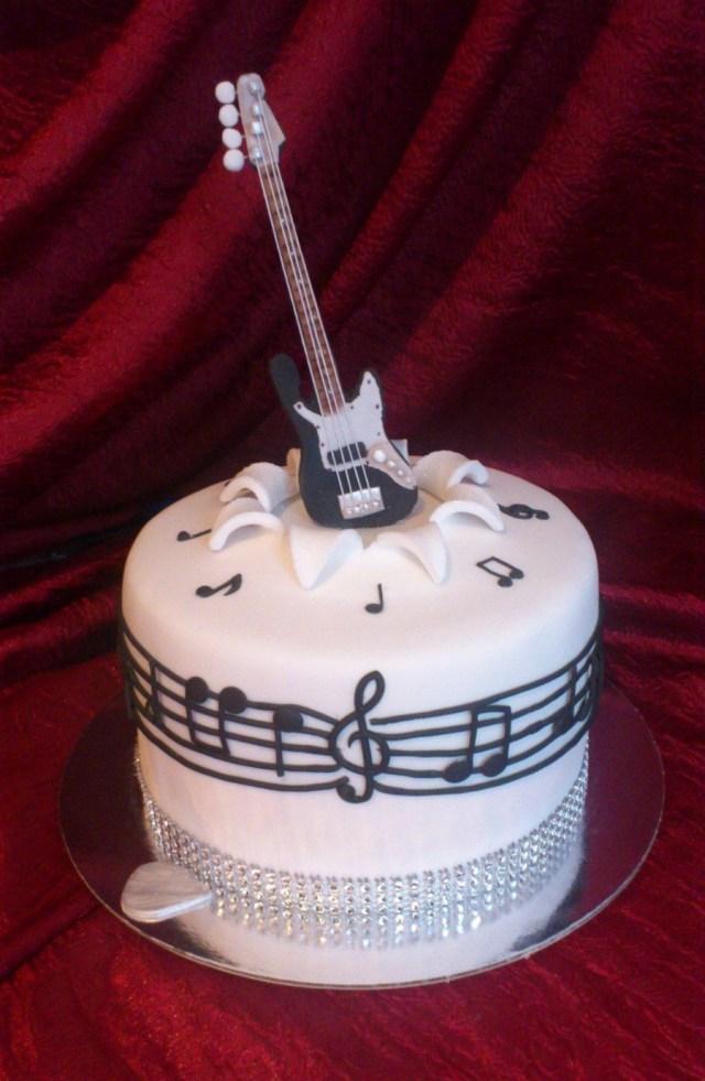 Guitar Birthday Cake Fender Decorated Guitar Cake Cake Guitar Birthday Cakes