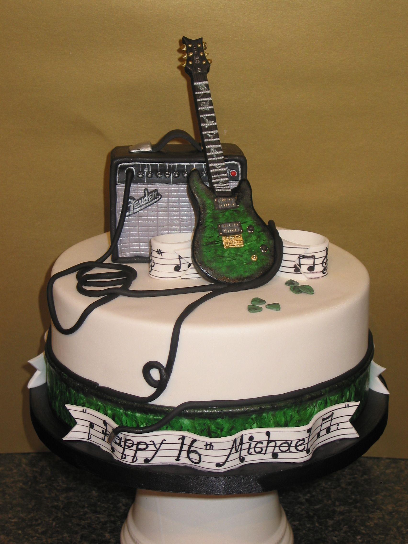 32 Wonderful Image Of Guitar Birthday Cake