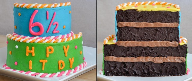 Half Birthday Cake Beki Cooks Cake Blog Half Birthday Half Cake