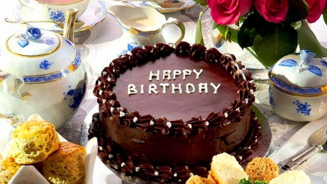 Happy Birthday Cake And Flowers Images Chocolate Birthday Cake With Flowers Hd Wallpaper Background Images