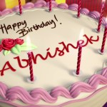 Happy Birthday Cakes With Name Birthday Cake Name Abhishek Naturallycurlye