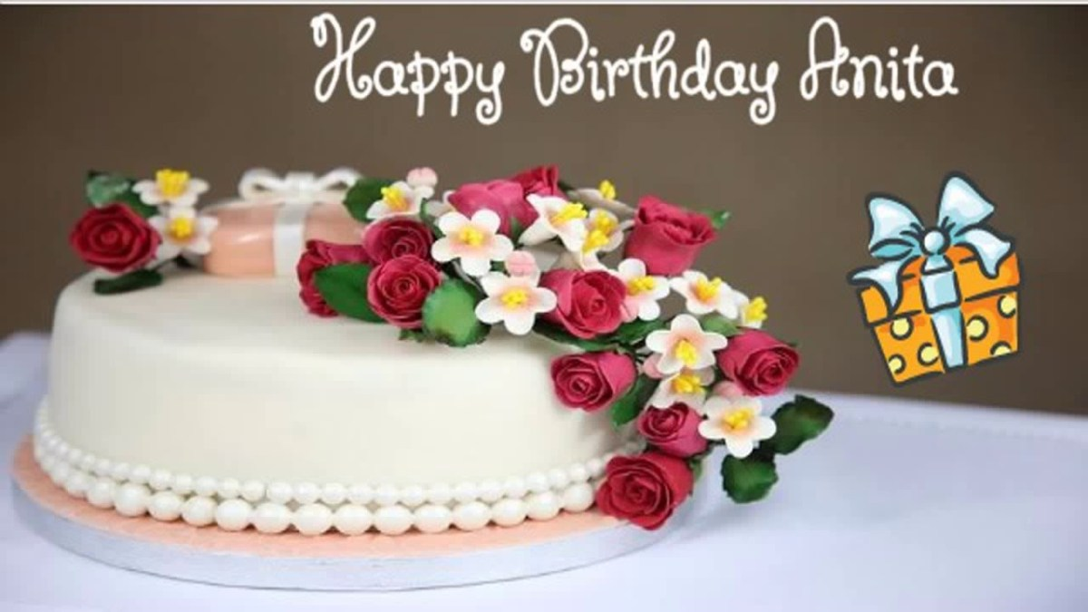 Happy Birthday Cakes With Name Anita Image Wishes Youtube