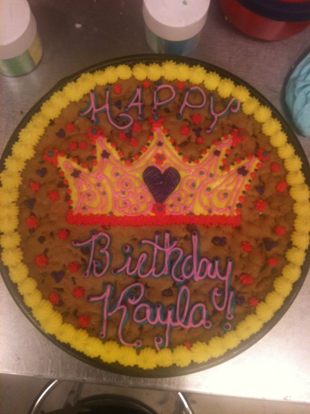 Happy Birthday Cookie Cake Happy Birthday Princess Crown Cookie Cake Birthday Party Ideas