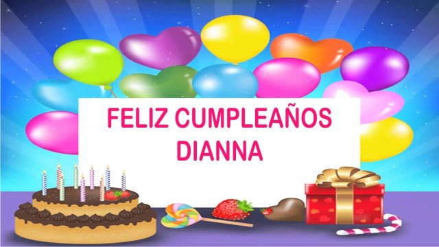 Happy Birthday Diana Cake Dianna Wishes Mensajes Happy Birthday Youtube