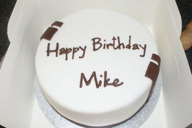 Happy Birthday Mike Cake Cherry On Top Happy Birthday Mike