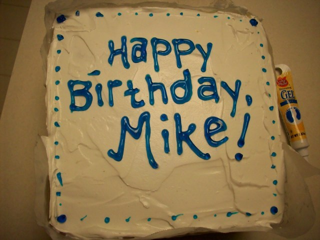 Happy Birthday Mike Cake Thinking Pink Happy Birthday Mike