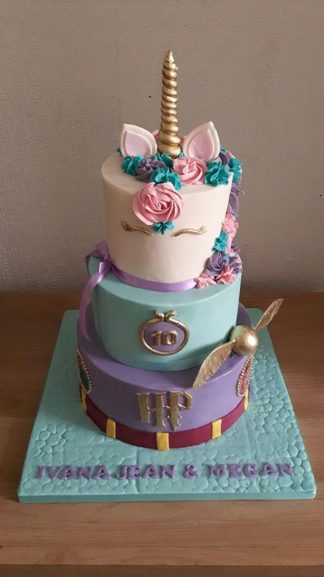 Harry Potter Birthday Cake Harry Potter Unicorn Birthday Cake Cakes Bizcocho Pastel De