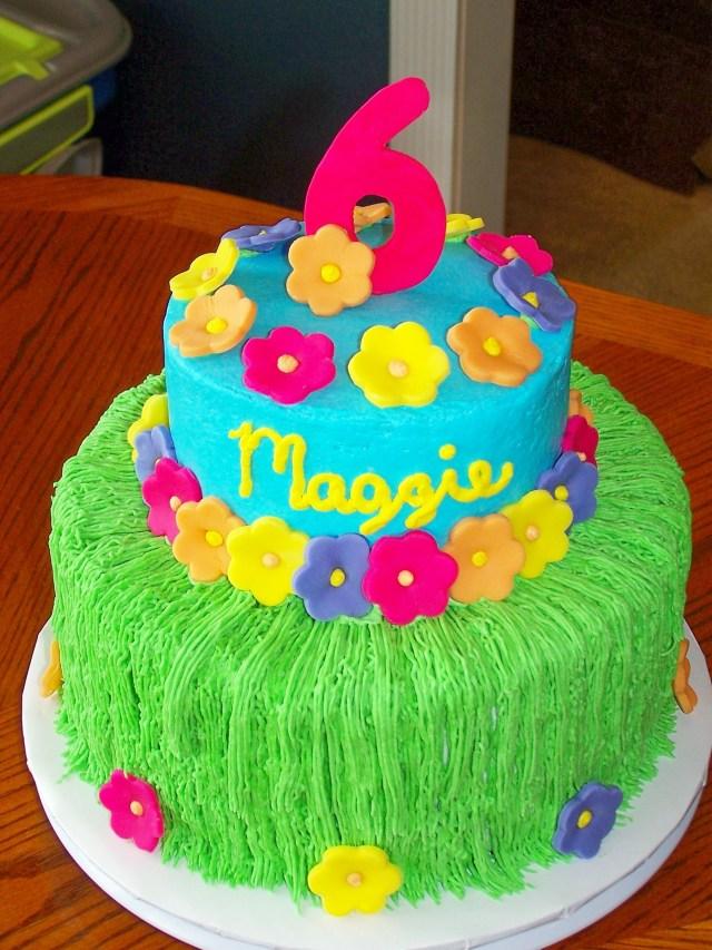 Hawaiian Birthday Cakes Luau Birthday Cakes Maggies Luau Childrens Birthday Cakes