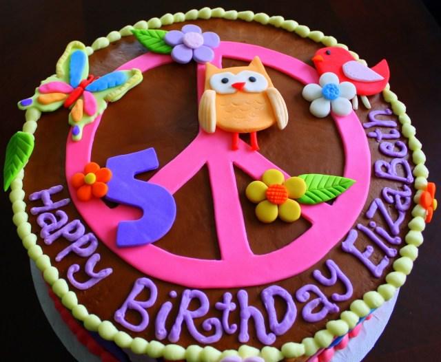 Hippie Birthday Cake 11 Hippie Chick Birthday Cakes Photo Hippie Chick Birthday Cake