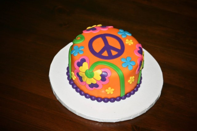 Hippie Birthday Cake Hippie Birthday Cakes