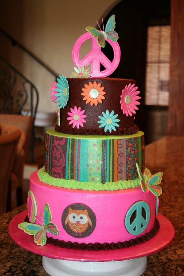 Hippie Birthday Cake Hippie Chick Birthday Cake Cakecentral