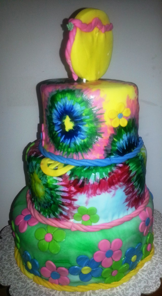 Hippie Birthday Cake Hippy Birthday Queenie Cakes