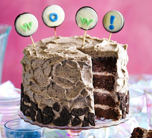 Homemade Birthday Cake Recipes Cookies Cream Party Cake Recipe Bbc Good Food