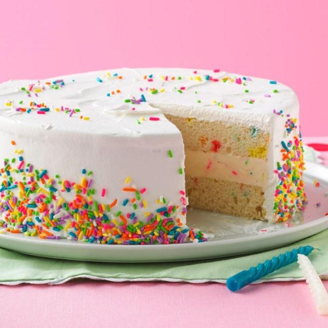 Homemade Birthday Cake Recipes Ice Cream Birthday Cake Recipe Taste Of Home