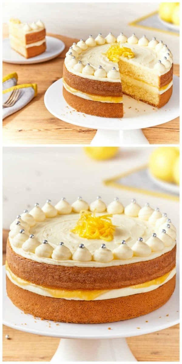 Homemade Birthday Cake Recipes Zesty Lemon Celebration Cake Cake Cupcakes Pinterest Cake