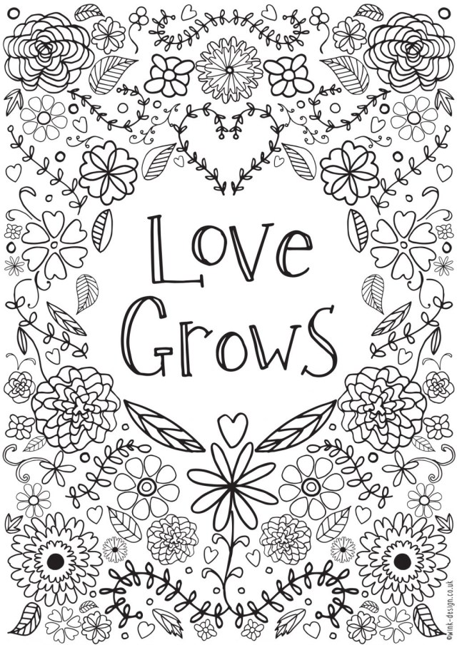 Inspirational Adult Coloring Pages Coloring Pages Printable Coloring Pages With Love Quotes Ofr