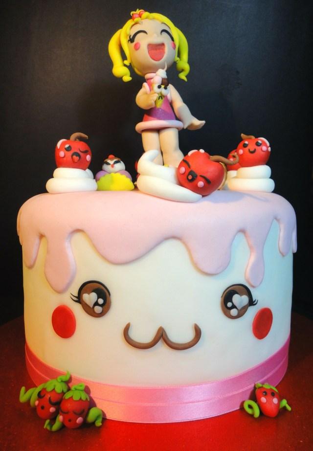Kawaii Birthday Cake Kawaii Cake Cake Cake Cake Decorating Cake Art