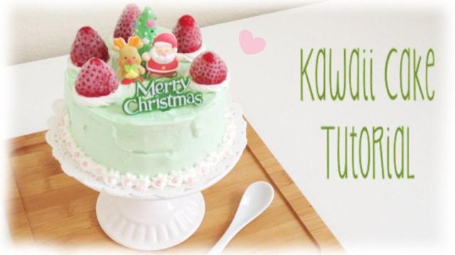 Kawaii Birthday Cake Mini Personal Kawaii Cake Tutorial Diy Christmas Birthday Youtube