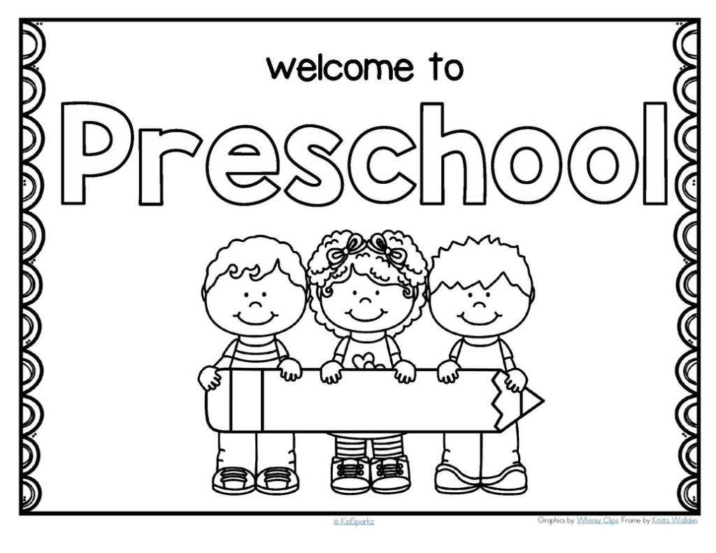 Kindergarten Coloring Pages Welcome Back To School Coloring Pages ...
