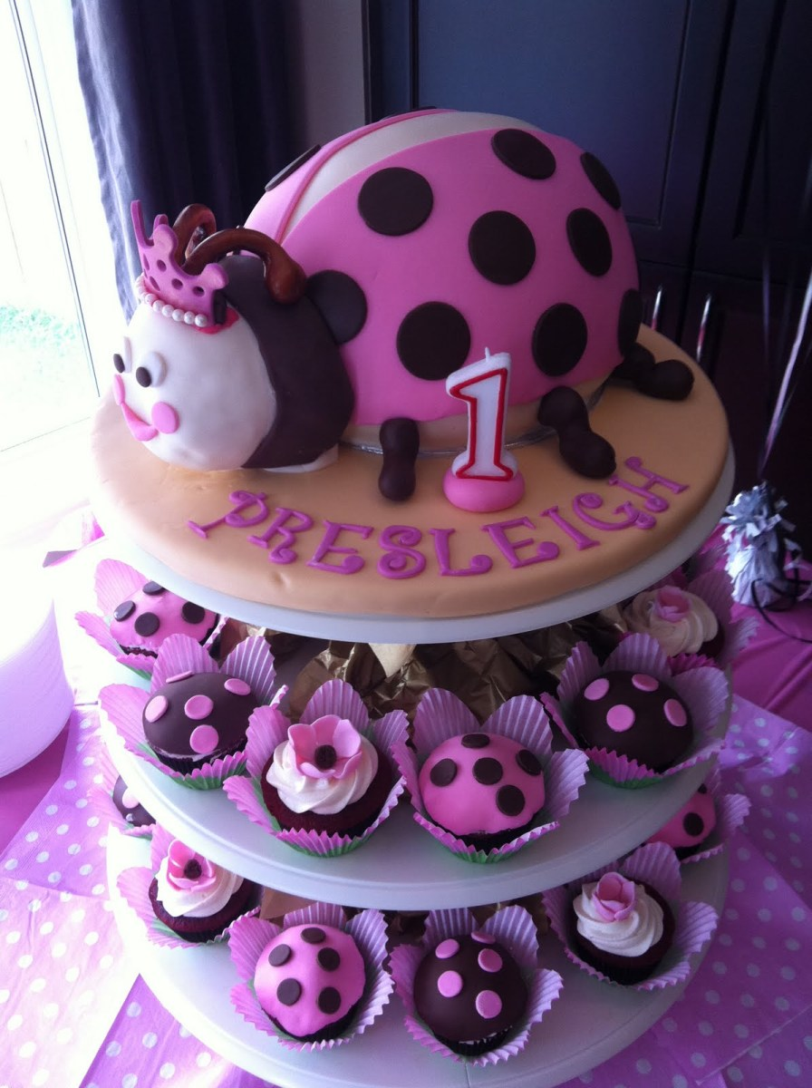 Ladybug Birthday Cake 11 Pink Lady Bug First Birthday Cakes Photo Pink Ladybug Birthday