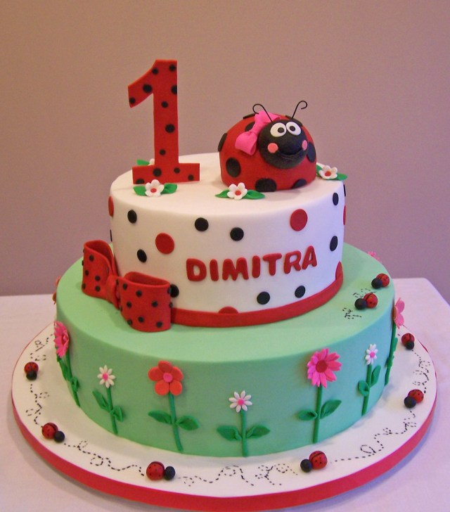 Ladybug Birthday Cake Ladybug First Birthday Cake This Is An Old Design Of Mine Flickr