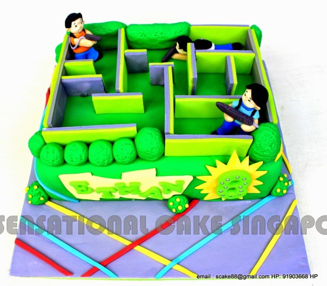 Laser Tag Birthday Cake The Sensational Cakes Laser Tag Cake Singapore 3d Laser Tag A